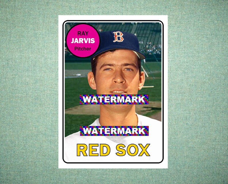 Ray Jarvis Boston Red Sox Custom Baseball Card 1969 Style Card That Could Have Been by MaxCards Mint Condition 2019