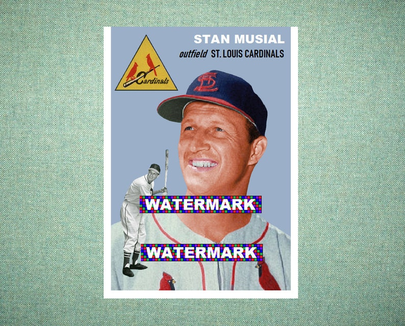 Stan Musial St Louis Cardinals Custom Baseball Card 1954 Style Card That Could Have Been By Maxcards Mint Condition 2019