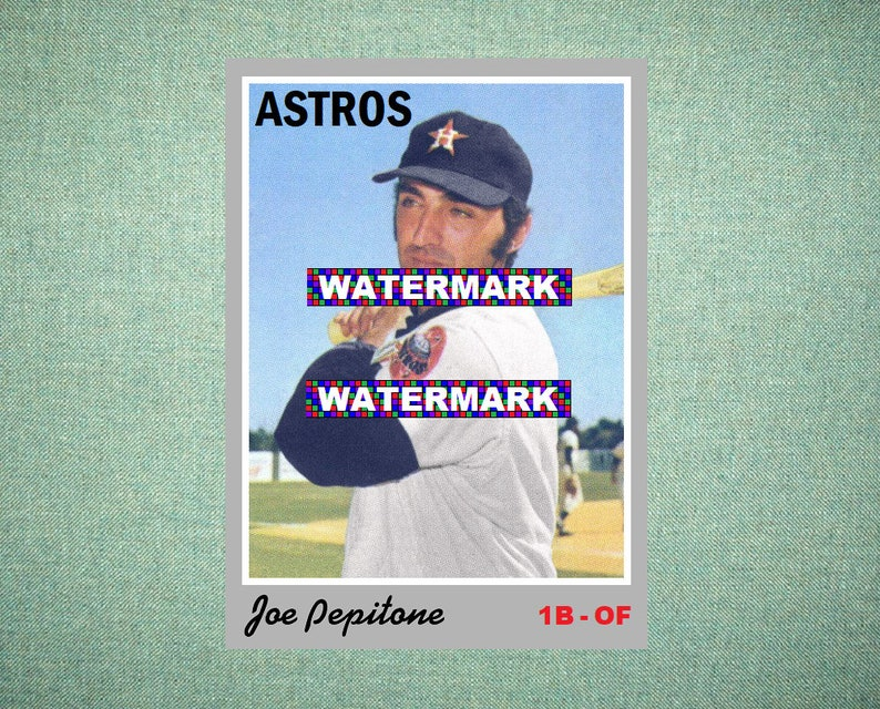 Joe Pepitone Houston Astros Custom Baseball Card 1970 Style Card That Could Have Been By Maxcards Mint Condition 2018