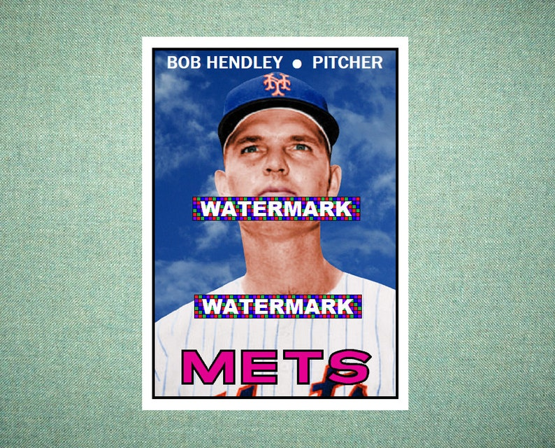 Bob Hendley New York Mets Custom Baseball Card 1967 Style Card That Could Have Been by MaxCards Mint Condition 2020