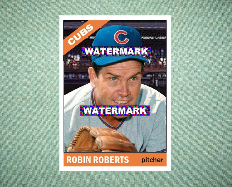Robin Roberts Chicago Cubs Custom Baseball Card 1966 Style Card That Could Have Been By Maxcards Mint Condition 2018