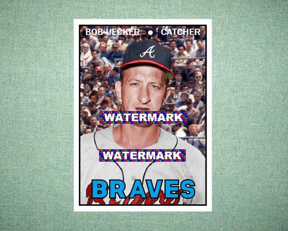 Dick Dietz Atlanta Braves 1973 Style Custom Baseball Art Card