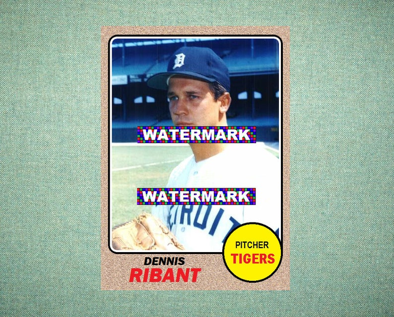Dennis Ribant Detroit Tigers Custom Baseball Card 1968 Style Card That Could Have Been By Maxcards Mint Condition 2019