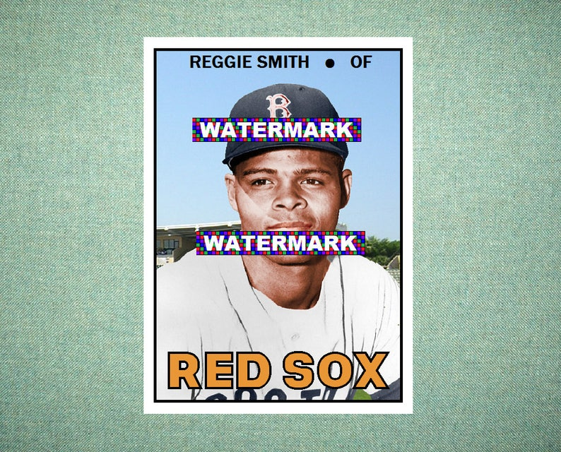 Reggie Smith Boston Red Sox Custom Baseball Card 1967 Style Card That Could Have Been By Maxcards Mint Condition 2017
