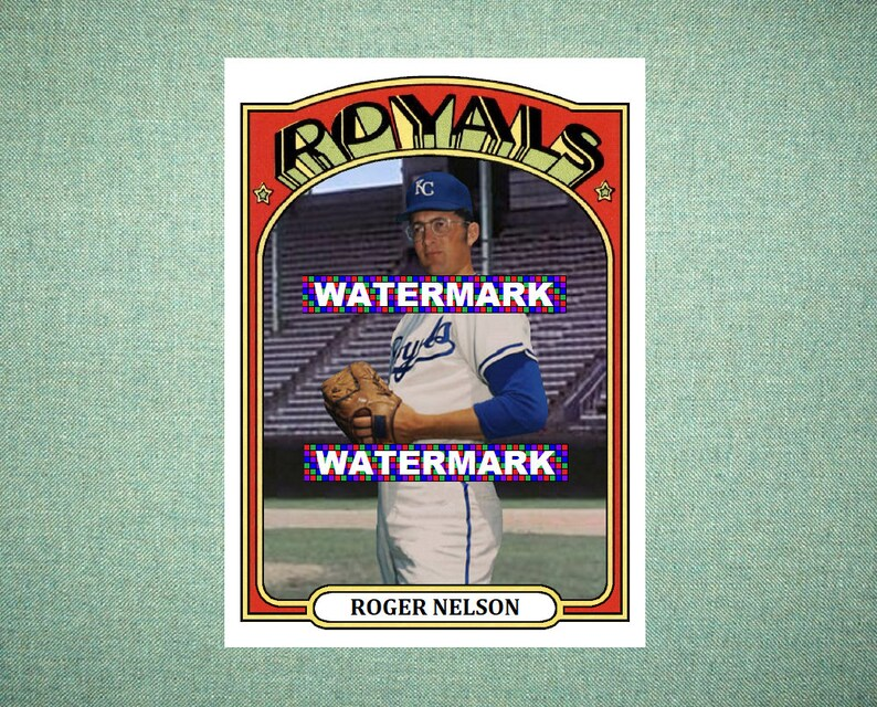 Roger Nelson Kansas City Royals Custom Baseball Card 1972 Style Card That Could Have Been by MaxCards Mint Condition 2018