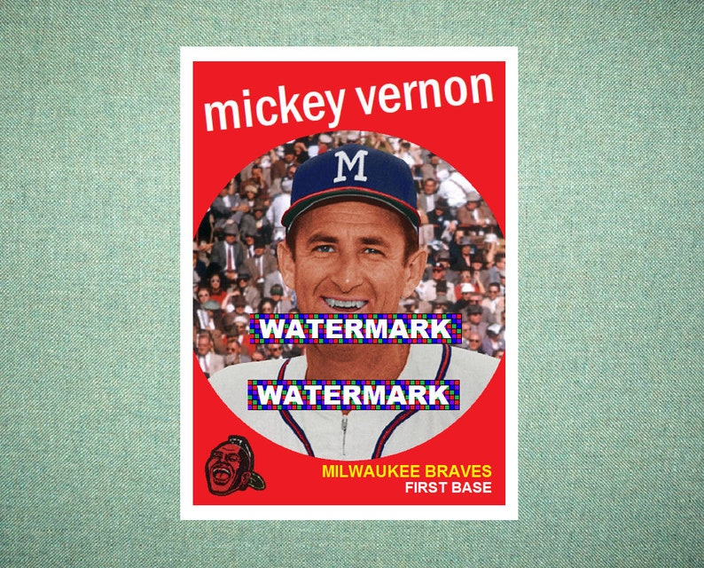 Mickey Vernon Milwaukee Braves Custom Baseball Card 1959 Style Card That Could Have Been by MaxCards Mint Condition 2018