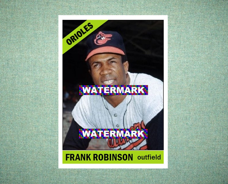 Frank Robinson Baltimore Orioles Custom Baseball Card 1966 Style Card That Could Have Been By Maxcards Mint Condition 2018