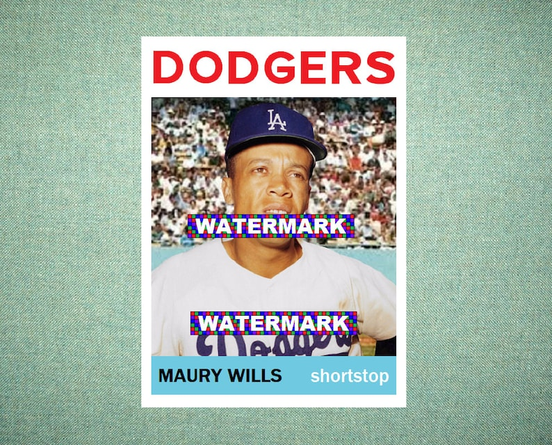 Maury Wills Los Angeles Dodgers Original Card That Could Have Been By Maxcards 1964 Style Custom Baseball Card 25 X 35 Mint