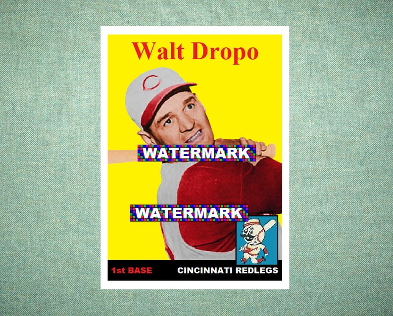 Walt Dropo Cincinnati Redlegs Custom Baseball Card 1958 Style Card That Could Have Been by MaxCards Mint Condition 2018