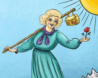 "Golden Girls Rose Nylund ""The Fool"" Tarot Card Art Print"