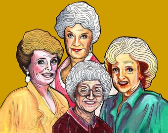 Golden Girls Rue McClanahan, Bea Arthur, Betty White, Estelle Getty Print