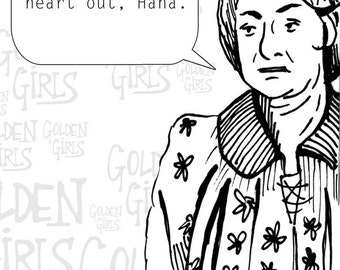 Golden Girls Bea Arthur Drawing - Print
