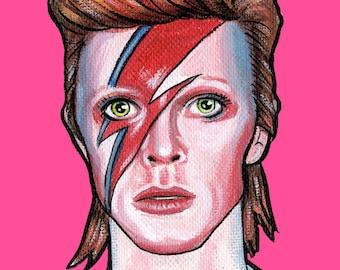 David Bowie Aladdin Sane Ziggy Stardust - Print