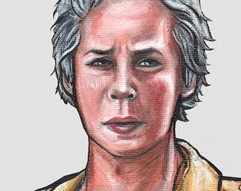 The Walking Dead Carol Peletier - Print