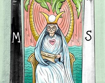 "Golden Girls Sophia Petrillo ""High Priestess"" Tarot Card Art Print"