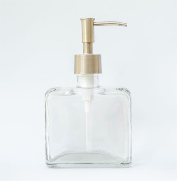 Modern Bathroom Soap Dispenser: Hand Soap Dispenser Modern Bathroom Decor Glass Bathroom