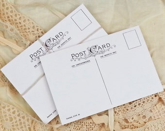 Printable Blank Postcards | 4x6 Postcard Template | Blank Advice Cards | Post Cards | Make Your Own Postcard