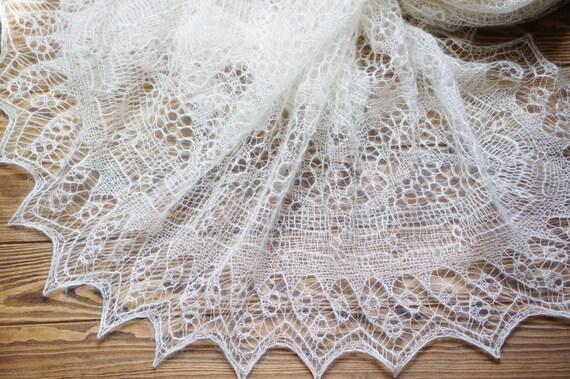 Shetland-Lace-Schal. Stricken Sie Shetland Spitze Hochzeit   Etsy