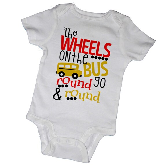 5 TRANSPORT Cars and Buses Short Sleeve Bodysuits