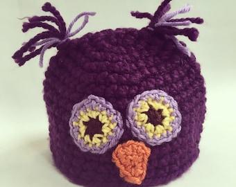 Whooo needs an owl hat? (Purple)