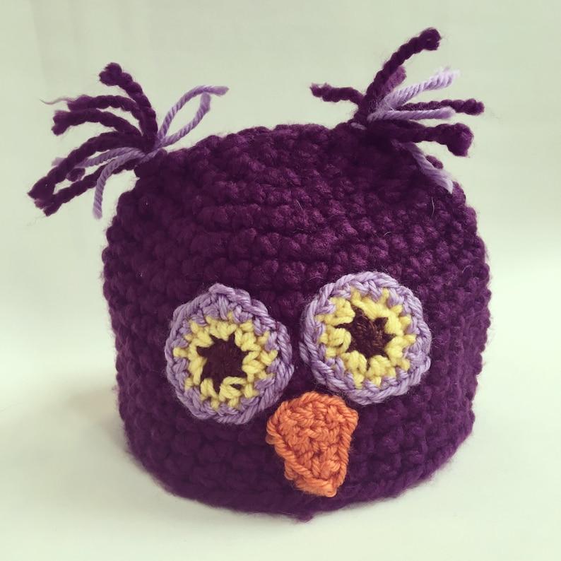 Whooo needs an owl hat Purple image 0