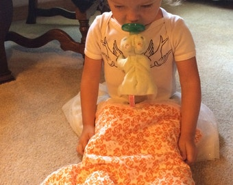 Bubbles Yummy Seahorse Pink Mini Baby Blanket