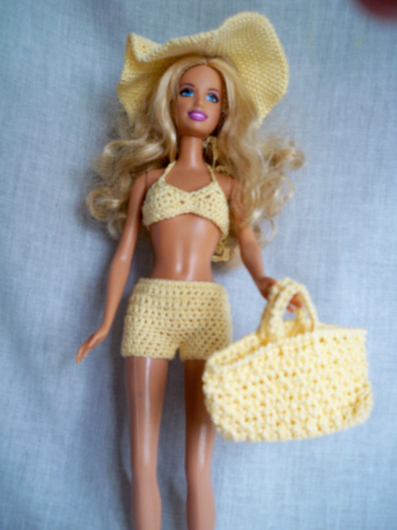 7efcd6fbd0 Crocheted Beach Outfit For Fashion Dolls like Barbie