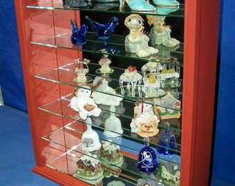 Wall Curio Cabinet Shelf Tabletop Display