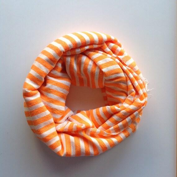 8bb185a6a18d Foulard écharpe Orange fluo   blanc rayé Scarf hommes et   Etsy