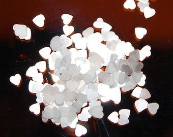 White Heart Glitter, SOLVENT RESISTANT, Glitter HEARTS, Glitter, Nail Art, Nail Polish Glitter, Craft Glitte, White Glitter, Heart Glitter