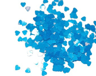 Peacock Blue Hearts, Blue Hearts, Nail Glitter, SOLVENT RESISTANT, Glitter hearts, Glitter Nail Art, Nail Polish Glitter, Craft Glitter