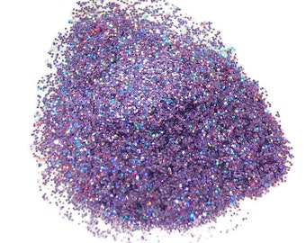 Holo Purple Glitter, Fine Glitter, SOLVENT RESISTANT, HOLO Glitter, 0.008 Hex, Nail Glitter, Slime, Glitter Nail Polish, Purple Glitter