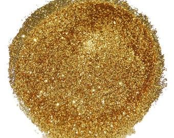 Gold Nail Glitter, Bright Gold, Gold Glitter, SOLVENT RESISTANT, GLITTER, Glitter Nail Art, Glitter Nail Polish, Glitter Crafts, Slime, Gold