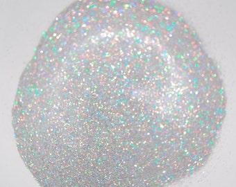 Fine Silver Glitter, Rainbow Silver, SOLVENT RESISTANT  HOLOGRAPHIC Glitter 0.008 Hex, Nail Glitter , Glitter Nail Polish, Glitter Craft