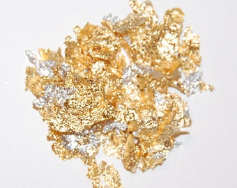 Gold Leaf, Gold and Silver Mix, Leaf Flakes Mix, Nail Art, Resin Supplies, Art Glitter, Nail Glitter, Gold Nail Art, Nail Art Supplies, Gold