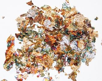 Metallic Leaf, Metallic Flakes Mix, Nail Glitter, Resin Supplies, Art Glitter, Nail Art Supplies, Silver Leaf, Gold Leaf, Silver and Gold