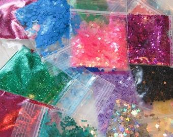 Glitter GRAB BAG, Solvent Resistant, Glitter, Sampler Set, Nail Art, Nail Polish Glitter, Slime Glitter, Nail Glitter, Craft Glitter