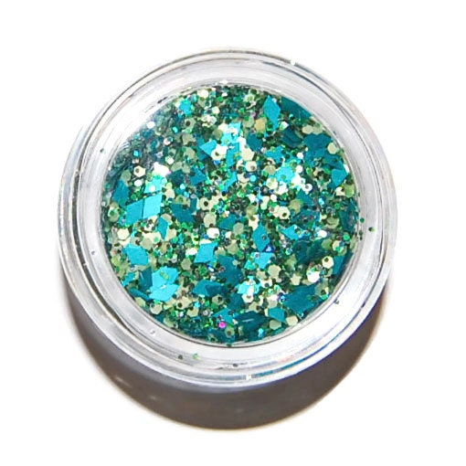 Nail Art Supplies New Zealand: Teal Sparkle Mix Solvent Resistant Glitter Mix Raw Nail