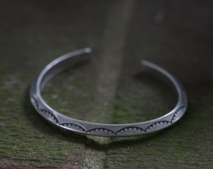Unisex Stamped Stacker Cuff Bracelet