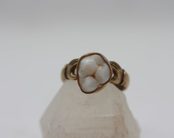 Brass Lover's Hand Single Tooth Ring (Made in your size)