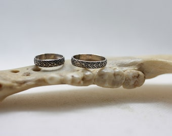 Dragon scale band ring- made to order in your size
