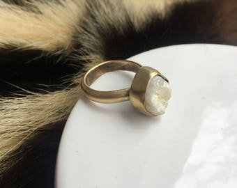 Brass Snaggle Tooth Ring Made to order