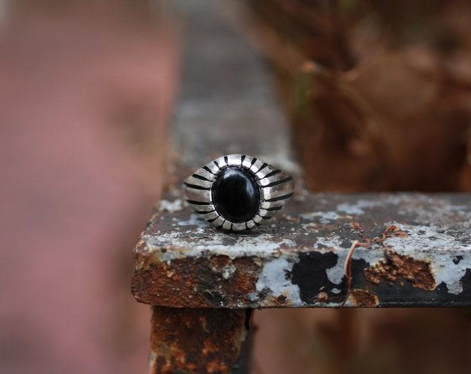 Men's Onyx sunburst Ring