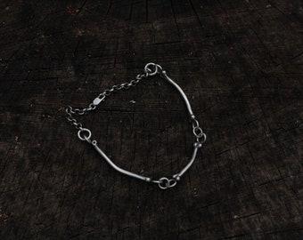 MARKED DOWN Sterling bone chain bracelet