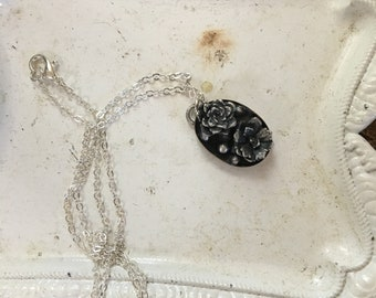 MARKED DOWN Potted succulents pendant necklace