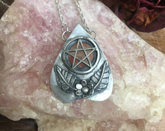 White Witch Planchette Necklace
