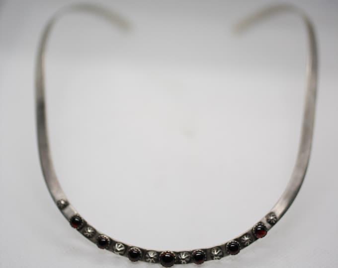 Garnet Neck Ring