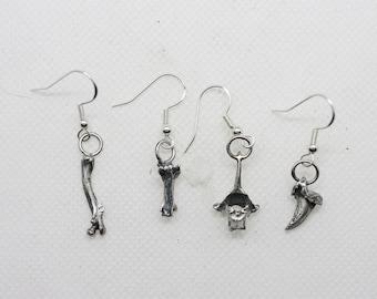 Sterling bones and things single dangle earring