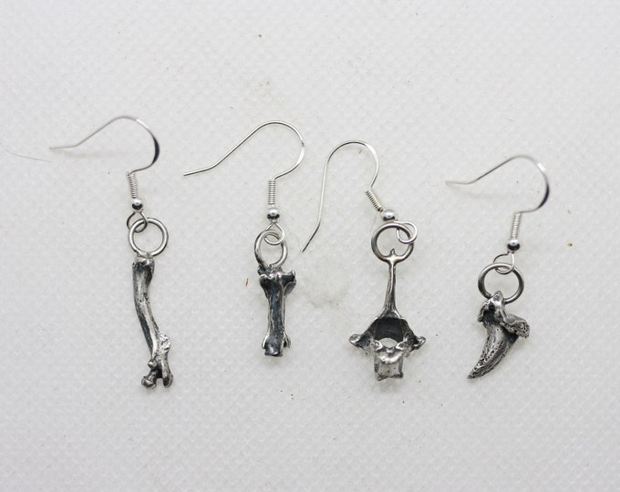 Sterling bones and things single dangle earring
