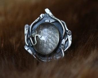 Snake Charmer Clear Quartz Ring
